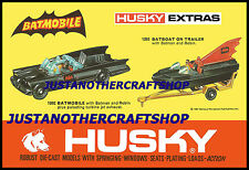 Corgi Husky Juniors 1202 1203 Batmobile Batboat Large Poster Advert Leaflet Sign