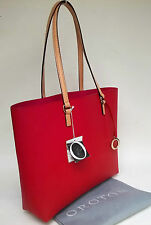 RRP$295 New Oroton Estate Tote Handbag Bag Saffiano Leather Red O Charm