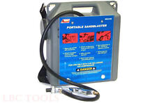 PORTABLE AIR SANDBLASTER WITH HOSE & GUN 30 LB SAND BLASTER PAINT RUST REMOVER