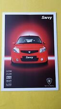 Proton Savvy 1.2 Style official marketing paper brochure August 2010 MINT