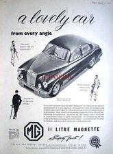 1956 MG 'Magnette 1.5 Litre' Saloon Car Advert - Vintage Auto Print Ad