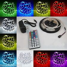 RGB 5M 3528 LED Strip Light 300leds + 44key IR Remote Control+ 12V Power Supply