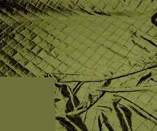 IRIDESCENT TAFFETA PINTUCK MOSS GREEN FABRIC BTY