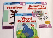 KUMON Math Workbooks Grade 6 Set: (3 books) --FREE Expedited Shipping