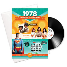 1978 38th Birthday | Anniversary Gift -1978 4-In-1 Card,Book,CD and Download