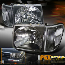 1998 99 2000 Toyota Tacoma 4X4 4WD Black Headlights W/ Black Corner Signal Light