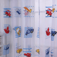 Cartoon Voile Blackout Curtains for Kids Room Window Curtains Tulle Sheer R