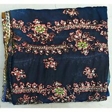 indian enthnic dupatta scarf hand sequined fabric wrap veil stole hijab