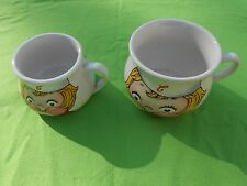 2 Vintage Campbell's Soup Kids Soup Mugs 1998