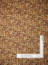 Firewood Stacked Cotton Fabric Brown Logs Bringing In Harvest Wilmington ~ Yard