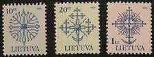 Definitive series, ferronnerie timbres, 2002, lituanie, sg réf: 720-722, neuf sans charnière