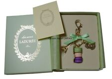 New Ver. LADUREE Keychain Key Ring Macaron Eiffel Tower in Gift Box Green MARK'S