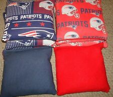 SET OF 8 NFL NEW ENGLAND PATRIOTS CORNHOLE BAGS - QUALITY