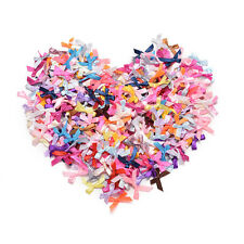 100pcs Mini Satin Ribbon Flowers Bows Gift DIY Craft Wedding Decoration Ornament
