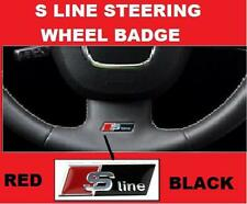 S Line Steering Wheel Sticker Emblem Badge Audi Black A3 A4 A5 A6 S4 S5 S6 RED