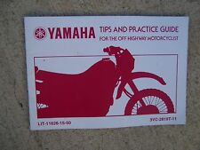 2002 Yamaha Off Highway Motorcycle OHM Tips + Practice Guide MSF MORE IN STORE S