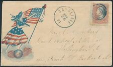 #65 BLUE TARGET CL ON CIVIL WAR DESIGN FEMALE, FLAG, SWORD, GLOBE COVER BS1188