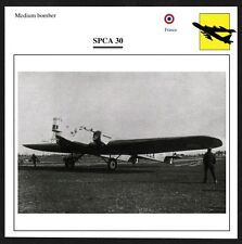 France SPCA 30 Medium Bomber Warplane Aviation Card - I Combine S/H
