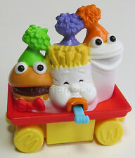 LOOSE McDonald's 1994 Happy Birthday Train HAPPY MEAL GUYS Burger Fries Sgl Toy