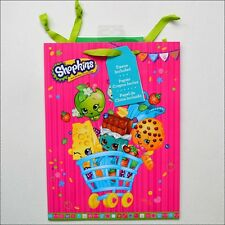"""Shopkins Pink Any All Occasion Draw String Gift Bag with Tissue Paper 12 x 9"""""""