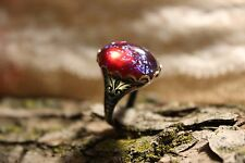 Fire Opal Ring Dragon's Breath Ring,Renaissance,Victorian Jewelry,Gothic