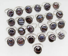 Linar jasper Whole Sale Mix Lot 25 Pcs 925 Sterling Silver Overlay Ring RH_911