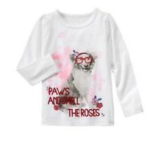 Gymboree NWT Size 80 Paws & Roses Tee Long Sleeve (Best in Show)