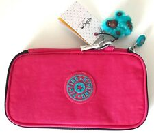 Kipling Kay Pencil Case Cosmetic Pouch Vibrant Pink NWT