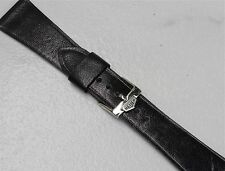 Genuine Goatskin 22mm vintage 1960s/70s flat watch band with steel Heuer buckle