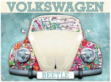 VOLKSWAGEN BEETLE VERNICE SPLATTER Design METAL SIGN (RH)