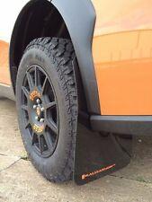 Rally Armor UR Mudflaps Black Urethane Orange Logo 2013-2016 Crosstrek XV