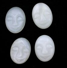 ONE 7x5 Oval Carved Moonstone Face Gem Gemstone Cab Cabochon 7mm x 5mm ebs6186