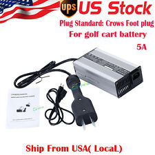 36 Volt Battery Charger Golf Cart For Ez Go Club Car DS TXT W/ Crows Foot plug