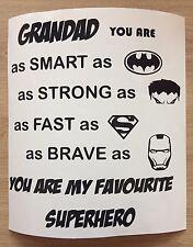 Nonno sei il mio supereroe-Decalcomania Adesivo Vinile Scatola IKEA RIBBA Cornice