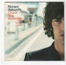 (FY340) Richard Ashcroft, Check The Meaning - 2002 DJ CD