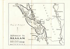 Map of Advance in Arakan 1942-1943