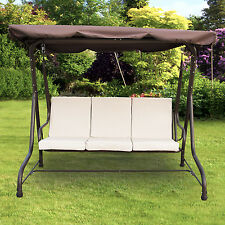 Outdoor 3 person Canopy Swing Chair Patio Backyard Garden Porch Seat Furniture