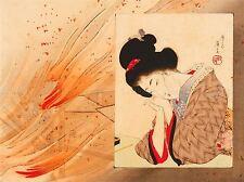 Abstrait culturel du Japon Geisha eisen feu flamme poster AFFICHE ART PRINT PICTURE bb599a