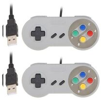 2 x Retro Super Nintendo SNES USB Controller Jopypads for Win PC/MAC Controllers