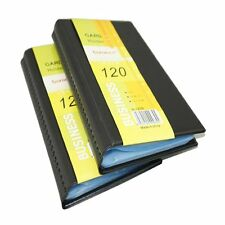 2X Leather 120 Cards Business Name ID & Credit Card Holder Case Keeper Organizer