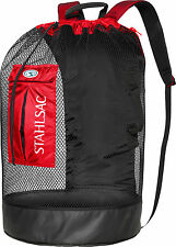 Stahlsac Bonaire Scuba Diving Travel Mesh Backpack Gear Bag Red NEW
