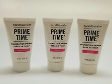 New bareMinerals Prime Time Foundation Primer 0.5oz (15ml) - Half Size (QTY 3)