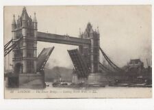 London Tower Bridge Looking North West 1914 Postcard 469a  #2