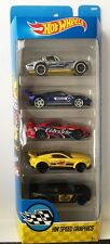 Hot Wheels 2017 HW SPEED GRAPHICS 5 Pack -Corvette Ford GT Supra Mustang Charge
