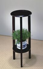 Telephone Table Stand Plant Furniture Brown Modern Wood Home Hall Entry nib