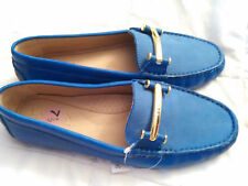 Gorgeous NEW Lauren Ralph Lauren 100% Leather Blue Women's Size 7.5 Casual Shoes