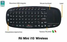 Rii Mini i10 Wireless - Tastiera con mouse touchpad per Smart TV, Mini PC, PC
