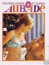 Publicité Advertising 066 1969 Aubade soutien gorge