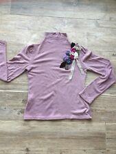 Vintage Anthropologie Lilac Embellished Floral Mock Turtleneck Euc S
