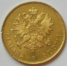 1913 GRAND DUCHY of FINLAND (RUSSIAN EMPIRE) GOLD 10 MARKKAA COIN